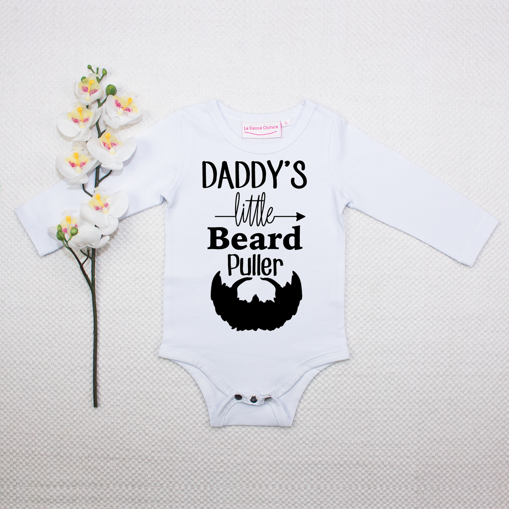 Daddy's Little Beard Puller - Unisex Long Sleeve  Vinyl - Custom