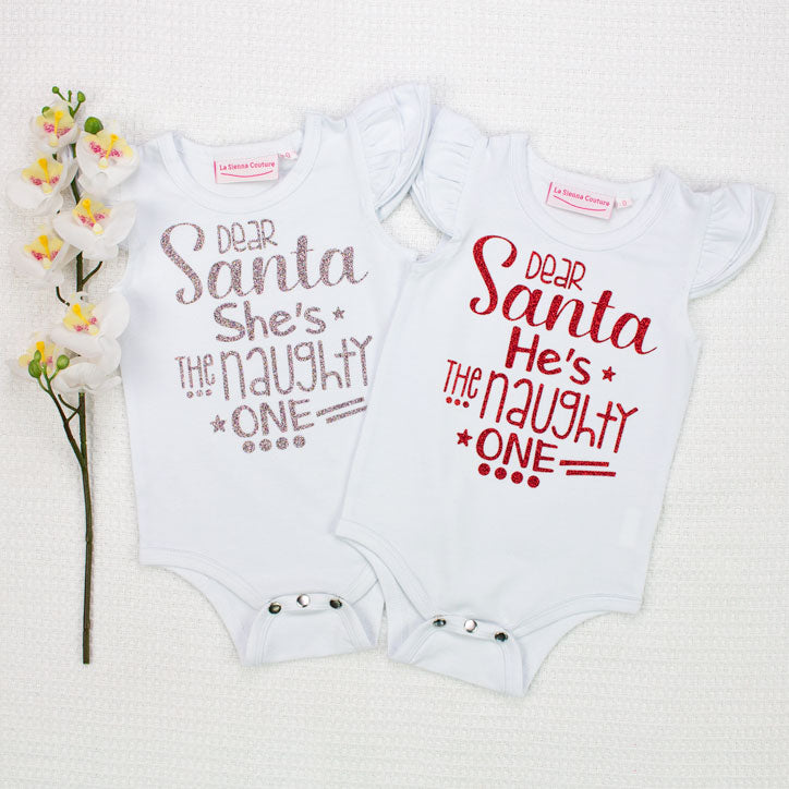 Dear Santa He/She's The Naughty One - Vinyl - Custom