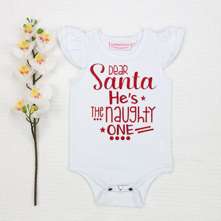 4975e812a Dear Santa He/She's The Naughty One - Vinyl - Custom – La Sienna Couture