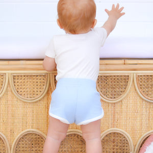 Cozy Two Tone Shorts - Dove Blue