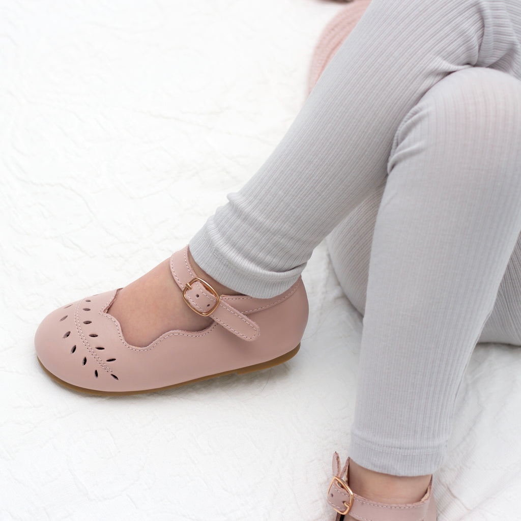 Bloom Mary Jane Shoes - Dusty Pink
