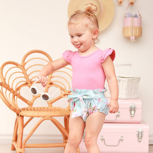 High Waisted Bloomers + Bib & Headband Set - Aleena