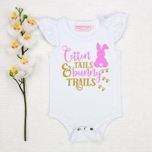 Cotton Tails Bunny Trails - Vinyl - Custom
