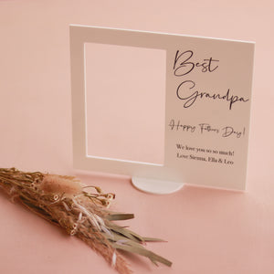 Acrylic Photo Frame - Happy Fathers Day