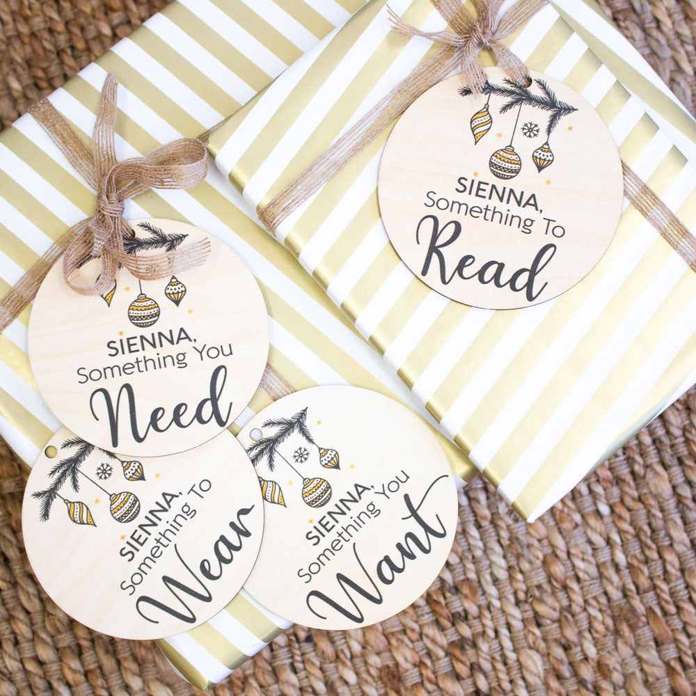 Wooden Gift Tags - Custom Name