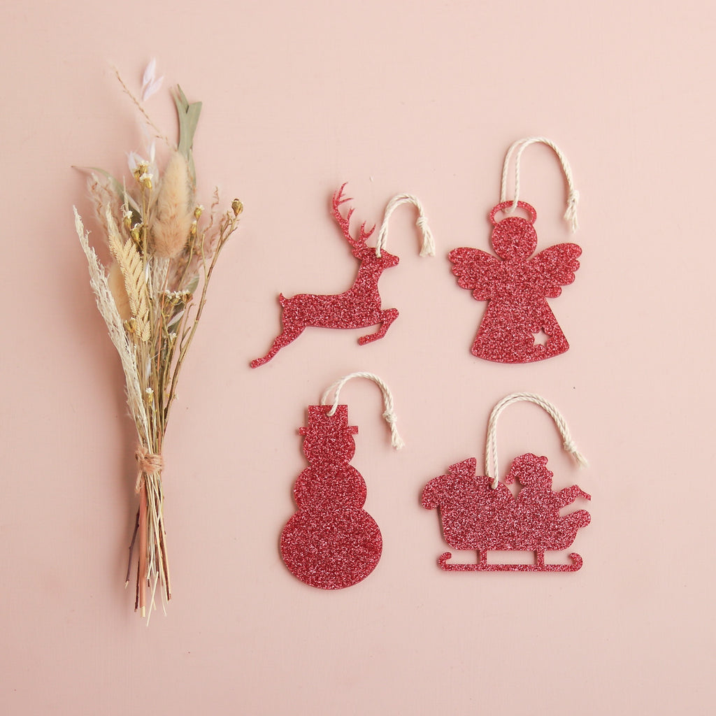 Glitter Ornaments Pack