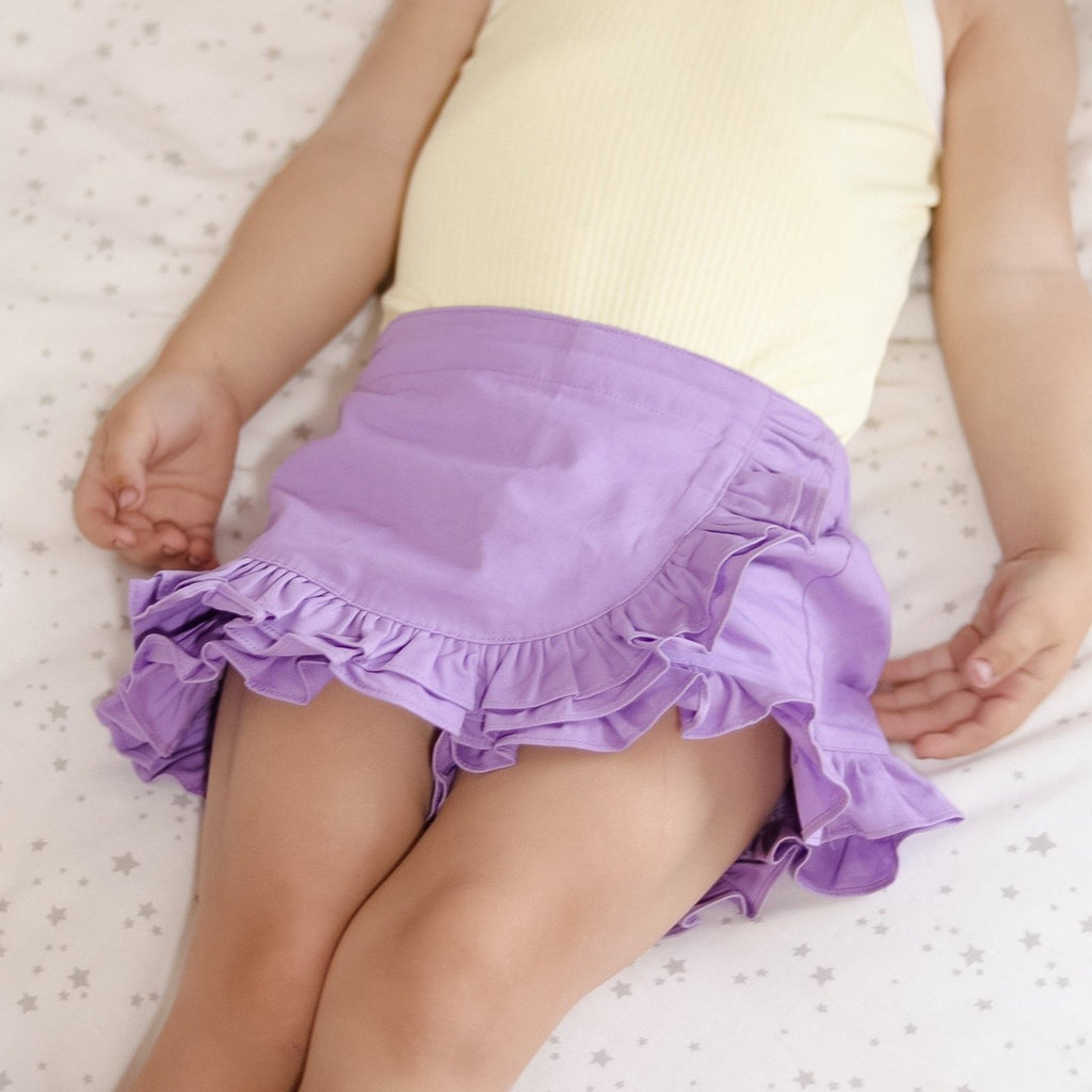 Skort + Headband - Grape