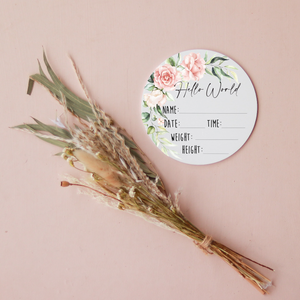 Hello World - Peach Floral