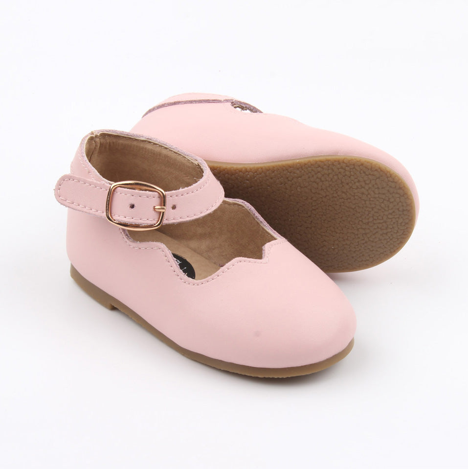 Ballerina Mary Jane Shoes - Baby Pink