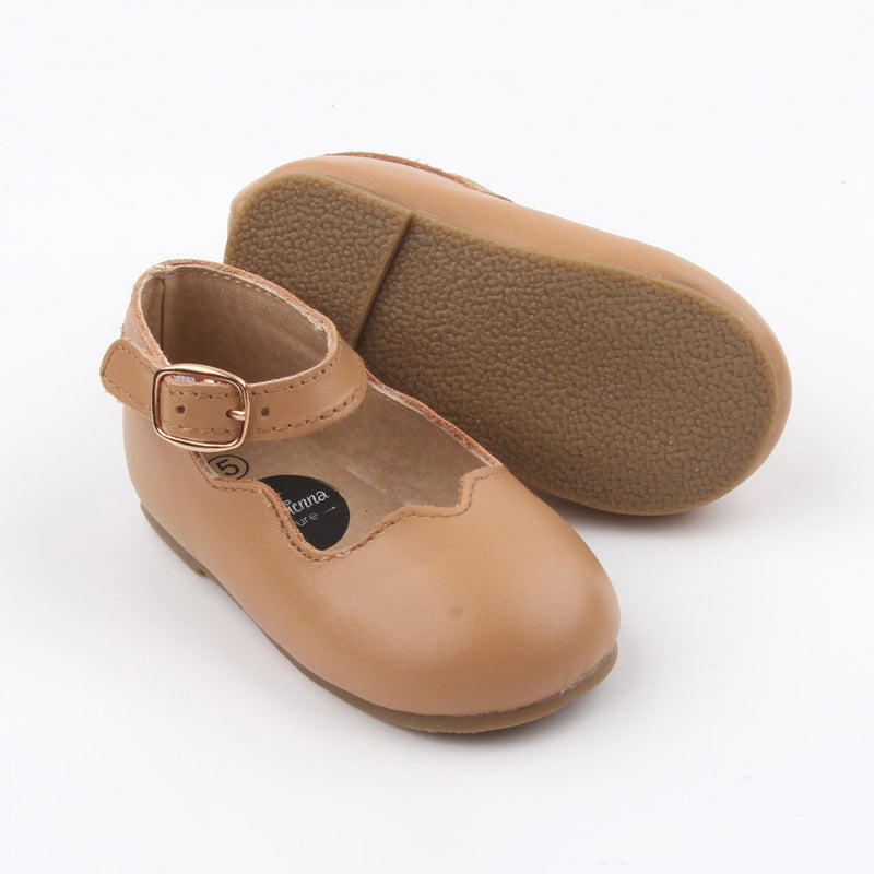 Ballerina Mary Jane Shoes  - Tan