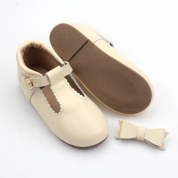 T-Bar Shoes - Cream