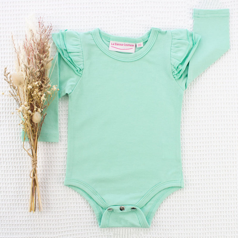 Long Sleeve Flutter Leotard/Top - Mint