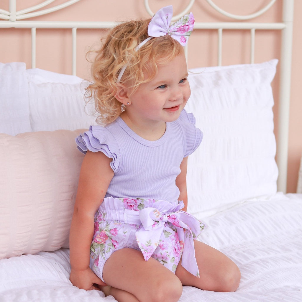 High waisted Bloomers + Bib & Headband Set - Lola