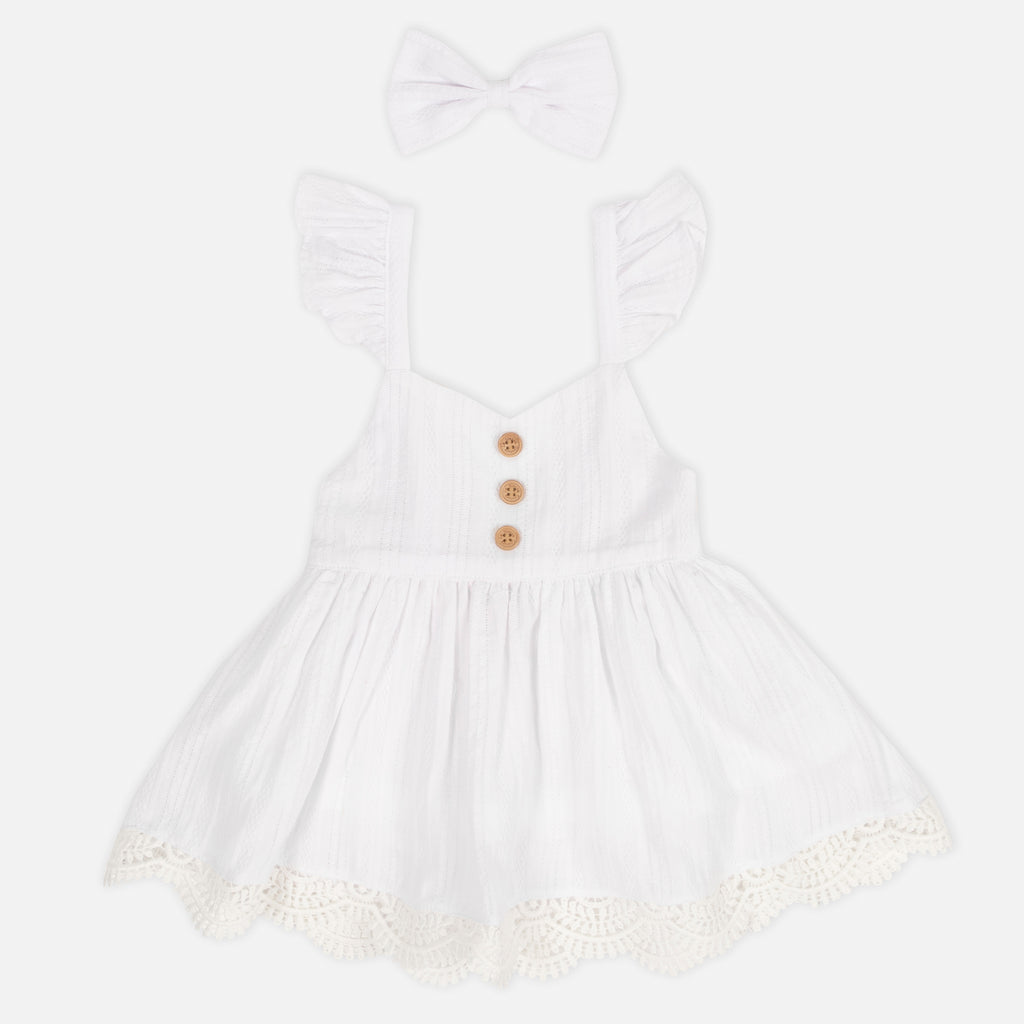 Sweetheart Dress - White Noella