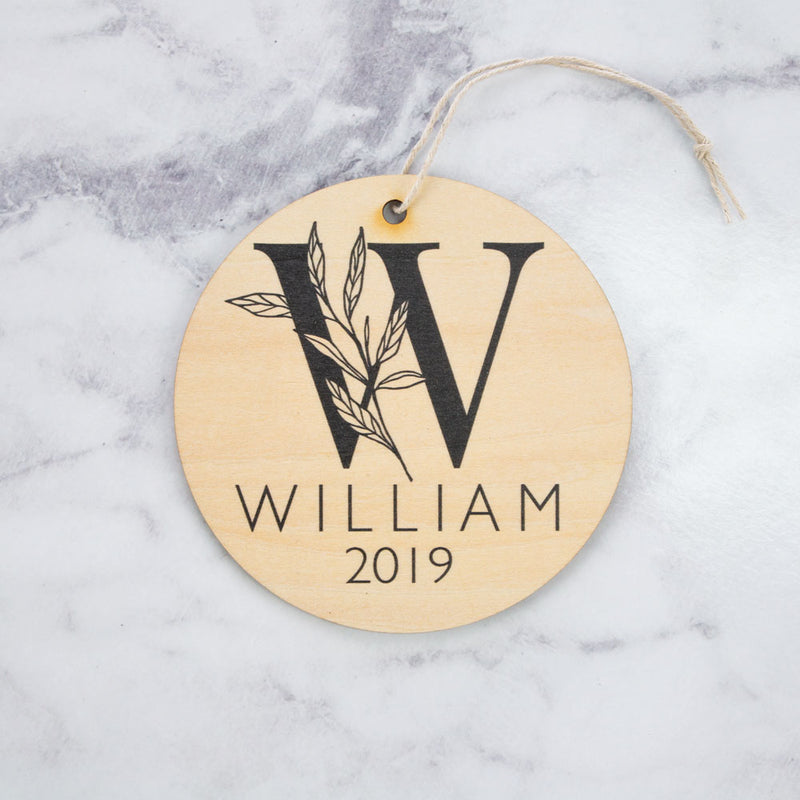 Plaque - Bloom Monogram - Custom Name