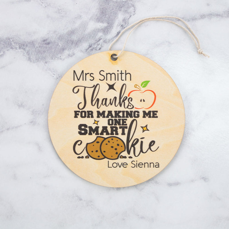 Plaque - Smart Cookie - Custom Name