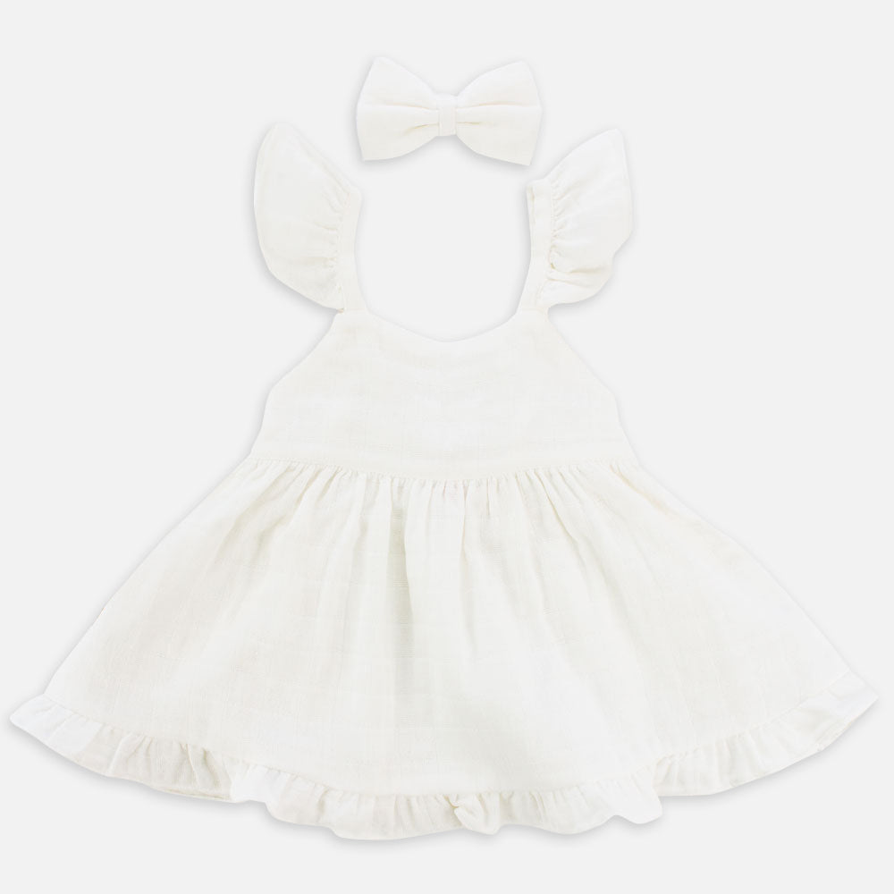Muslin Sweetheart Dress - Coconut