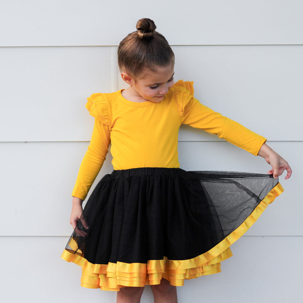 Tutu Skirt - Gold & Black