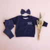 Personalised Crew Neck & Leggings - Navy