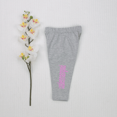 Personalised Grey Leggings - Vinyl - Custom Name