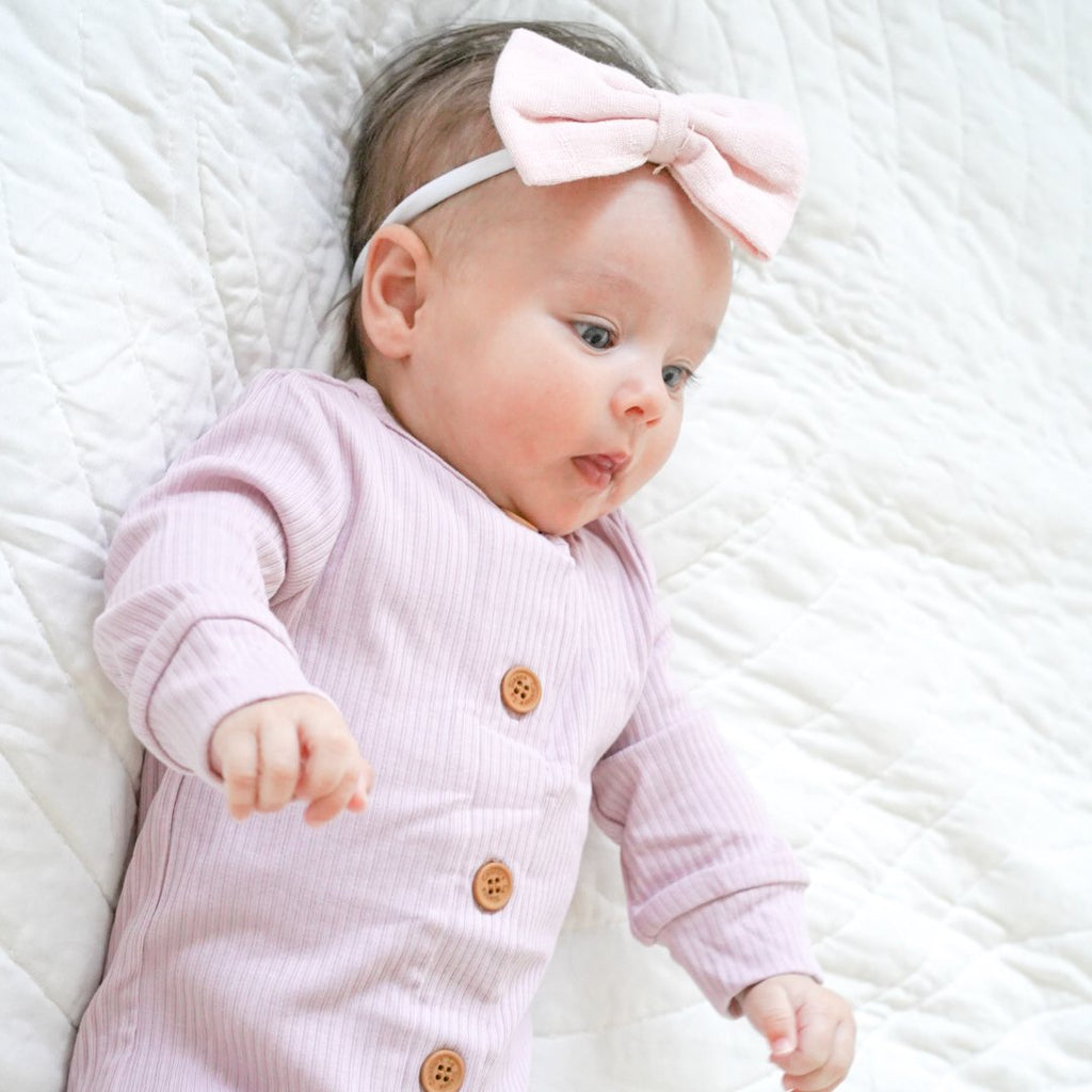 Cozy Long Sleeve Louie Romper - Lilac Mist