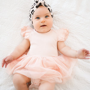 Cozy Summer Tutu Dress - Peachy