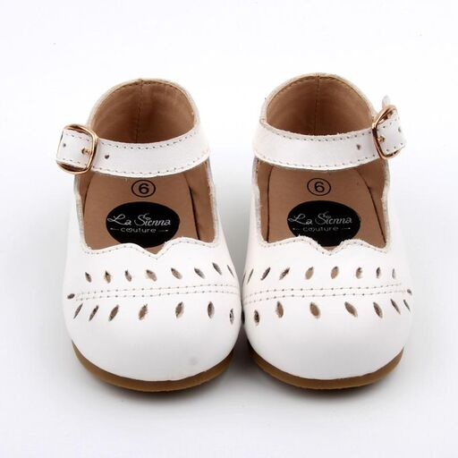 Bloom Mary Jane Shoes - White