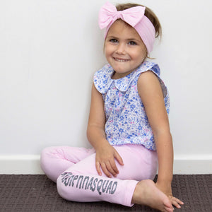 Personalised Pink Leggings - Vinyl - Custom Name