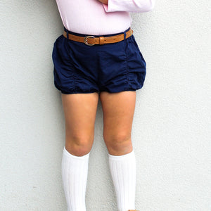 Shorts & Bow - Navy