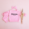Personalised Crew Neck & Leggings - Parisian Pink