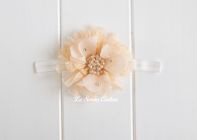 Headband Elastic - Poppy Cream