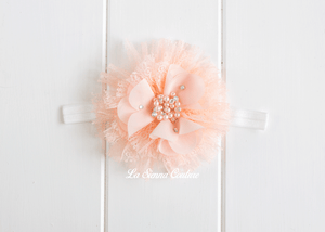 Headband Elastic - Poppy Peach