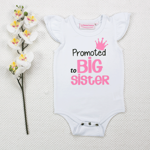 Promoted To Big Sister Crown - Vinyl - Custom