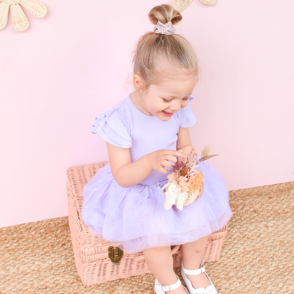 Cozy Summer Tutu Dress - Purple Popsicle