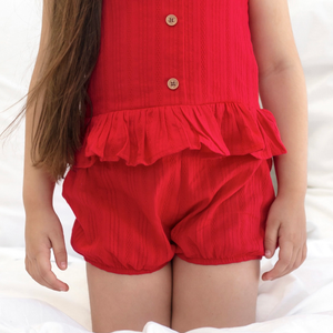 Posie Shorts - Red Noella