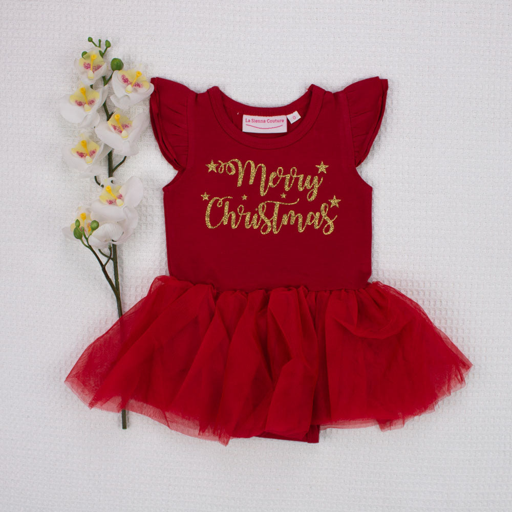 Christmas Tutu - Red - Merry Christmas