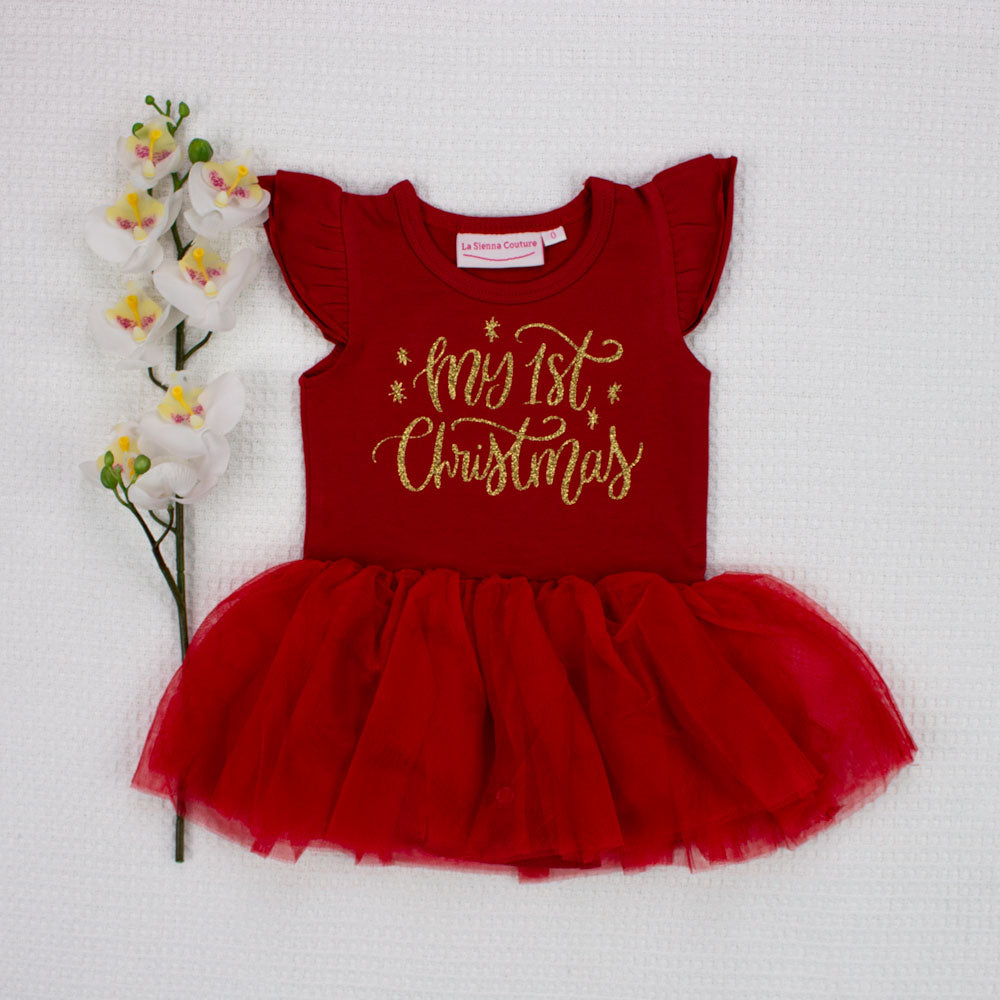 Christmas Tutu - Red - My 1st Christmas