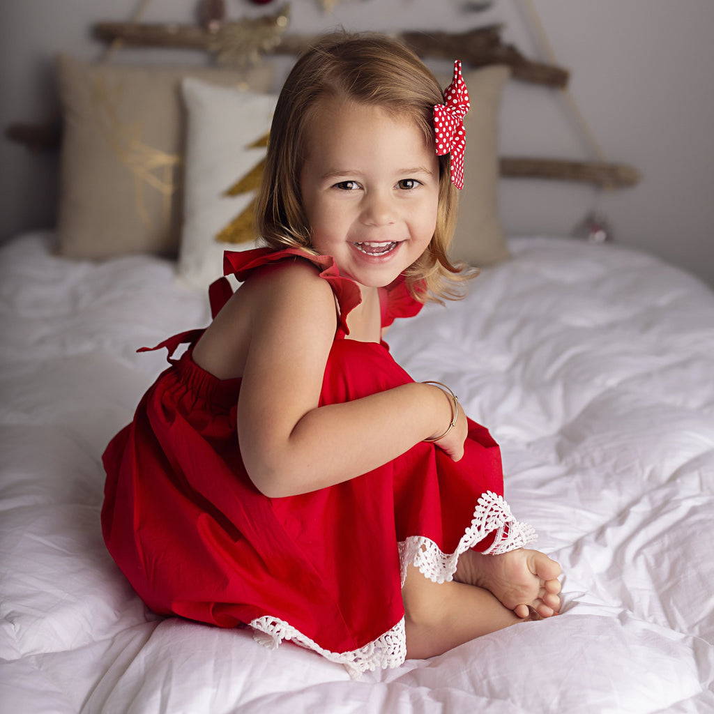 Sweetheart Dress + Headband - Red