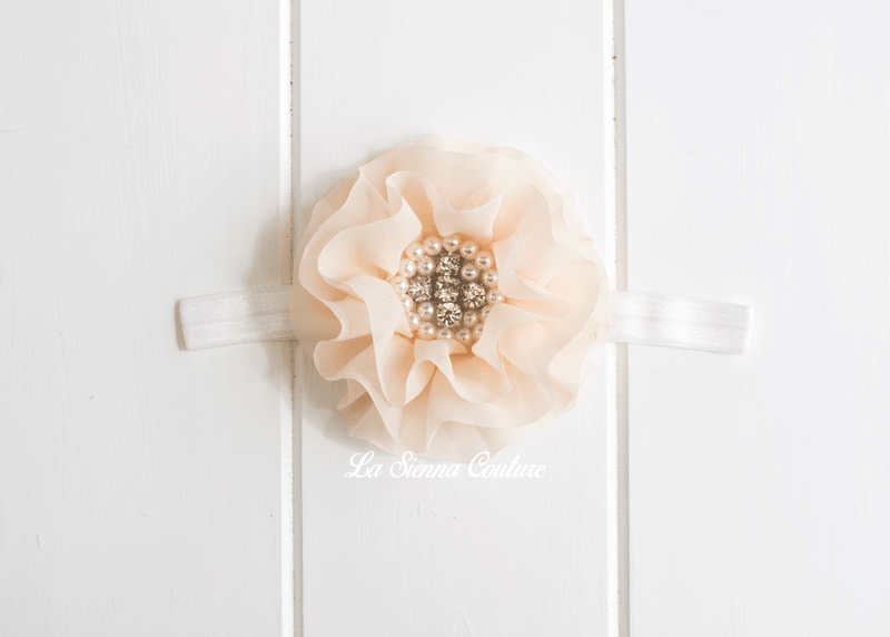 Headband Elastic - Rosey Cream
