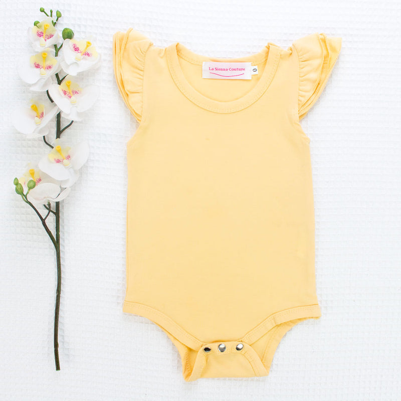 Short Sleeve Flutter Leotard/Top - Mango