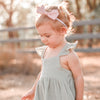 Muslin Sweetheart Dress + Headband - Sage