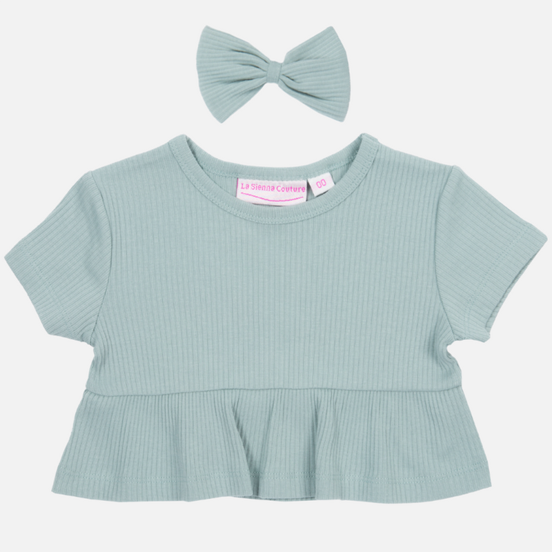 Cozy Ruffle Top - Sea Mist