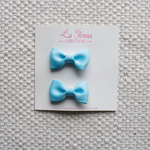 Petite Bows - Baby Blue