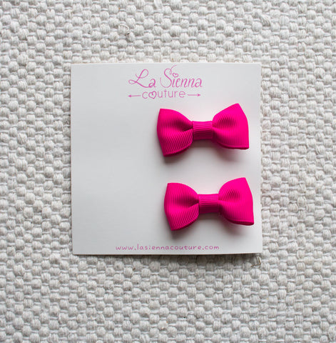 Petite Bows - Hot Pink