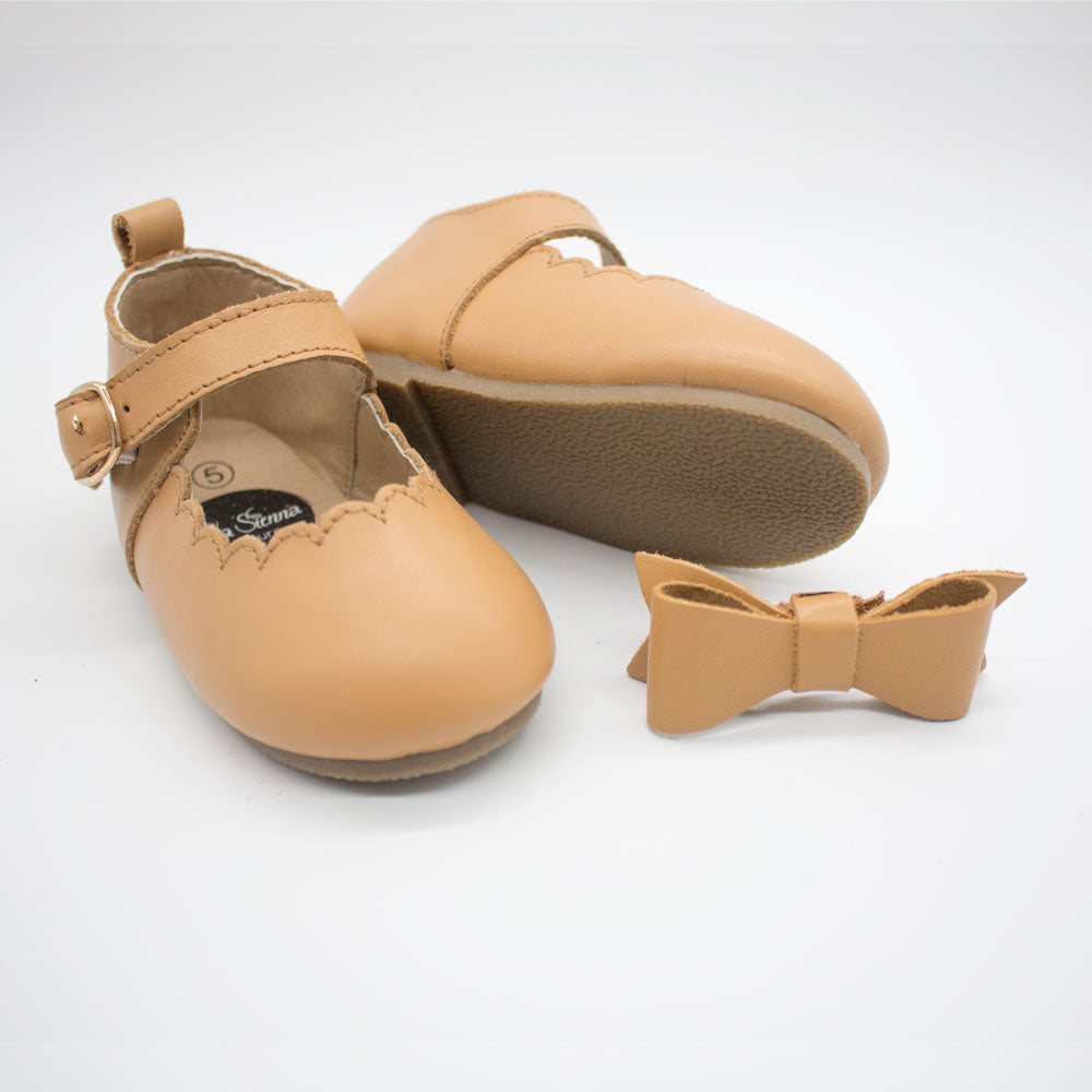 Mary Jane Shoes - Tan
