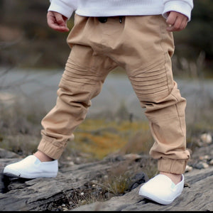 Cuffed Chinos - Tan