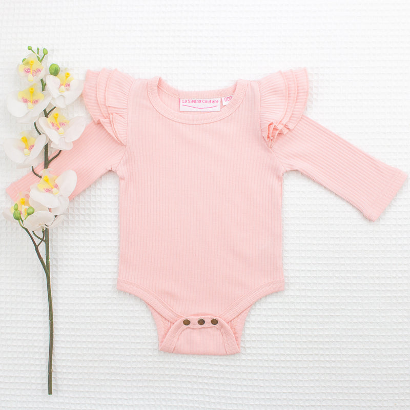 Cozy Long Sleeve Flutter - Tea Rose Pink