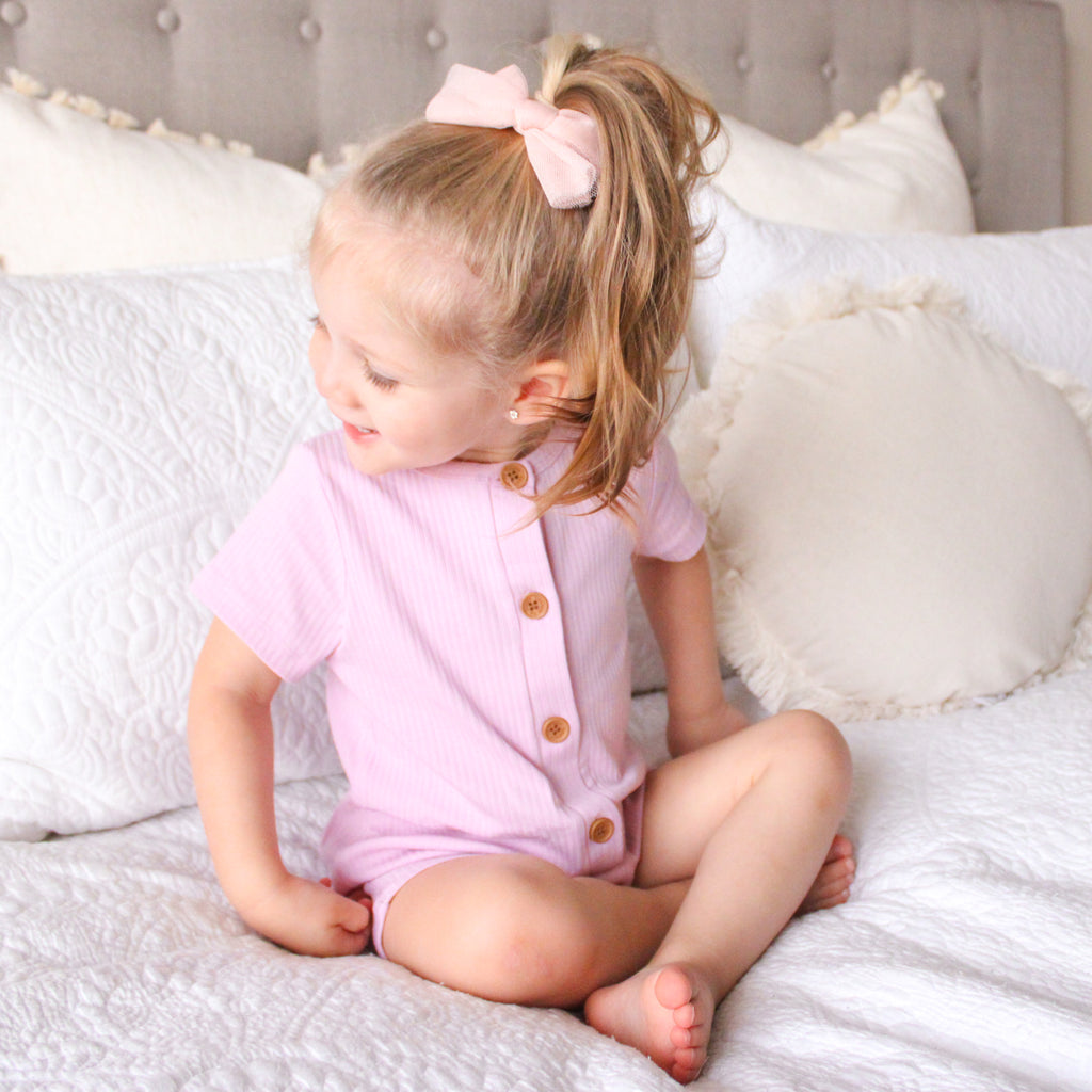 Cozy Summer Louie Romper - Tulip