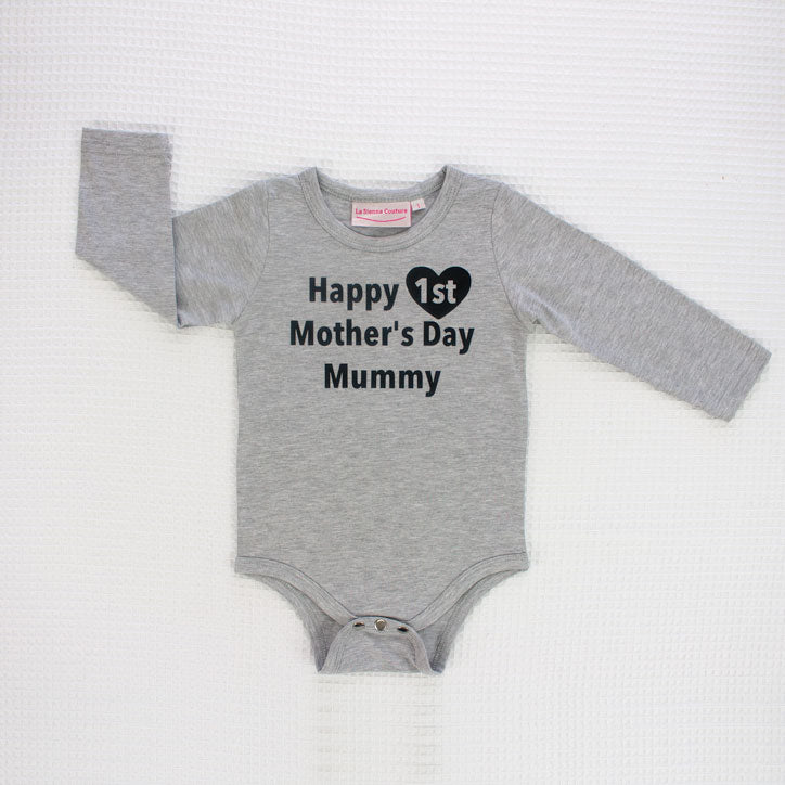 Happy 1st Mothers Day - Unisex Long Sleeve  - Custom
