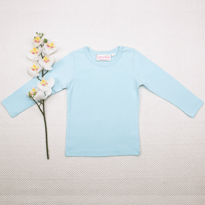 Long Sleeve Basic Unisex Leotard/Top - Baby Blue